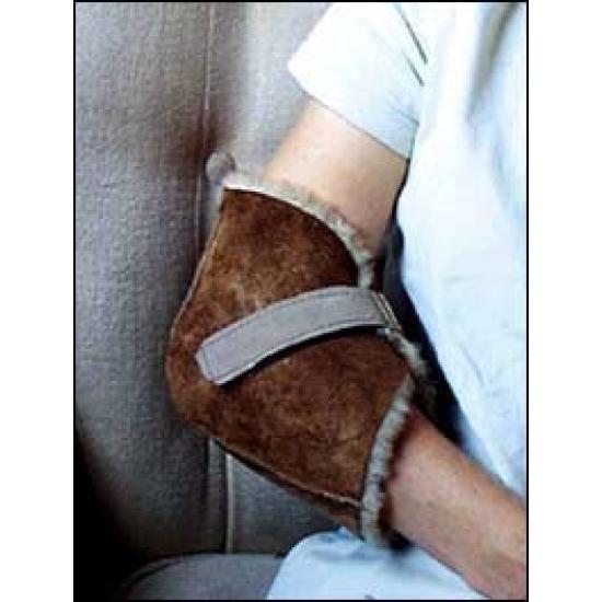 Protège-coude ou talon en peau de mouton