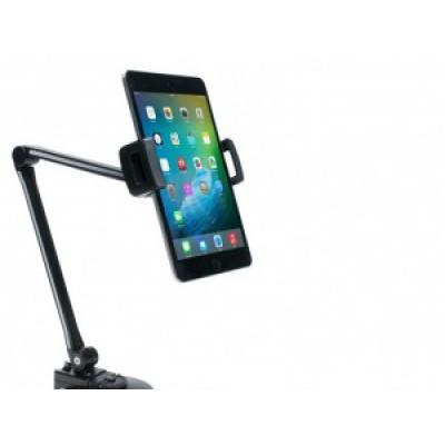 Support ultraléger pour tablettes et téléphones intelligents muni d'une pince et d'une base à ventouse
