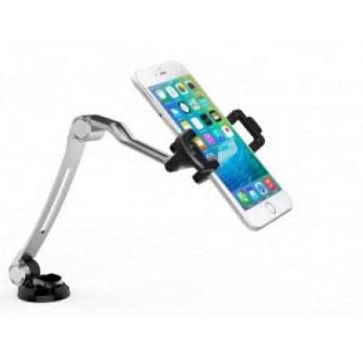 Support pliant compact avec base à ventouse pour téléphone intelligent