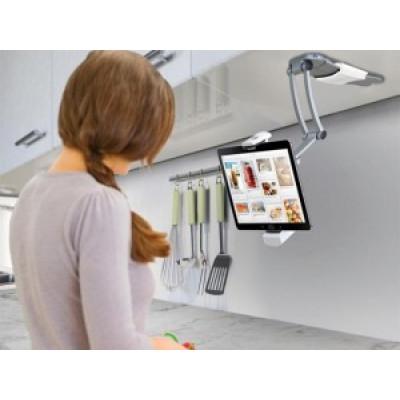 Support 2 en 1 pour iPad et tablettes utilisés en cuisine